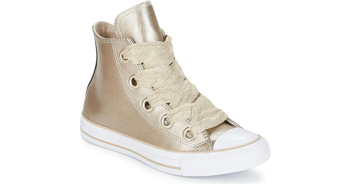 96ade7d0062c Converse Chuck Taylor All Star Big Eyelets Hi Women s Shoes (high-top  Trainers) In Gold in Metallic - Lyst