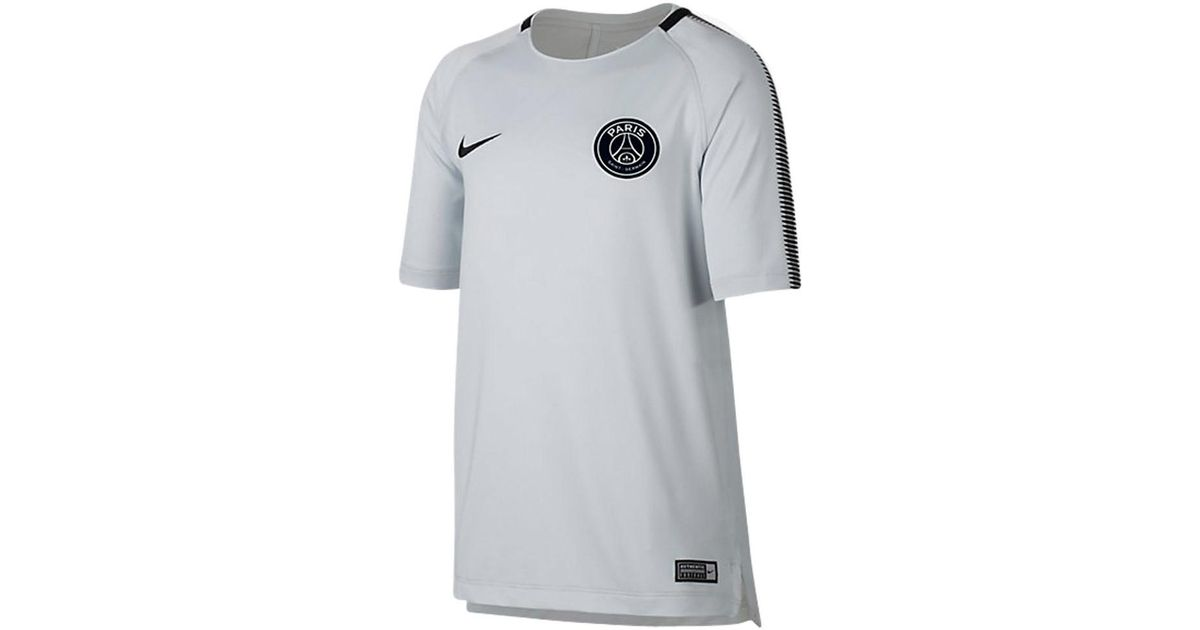 nike 2017 2018 psg training shirt pure platinum kids. Black Bedroom Furniture Sets. Home Design Ideas