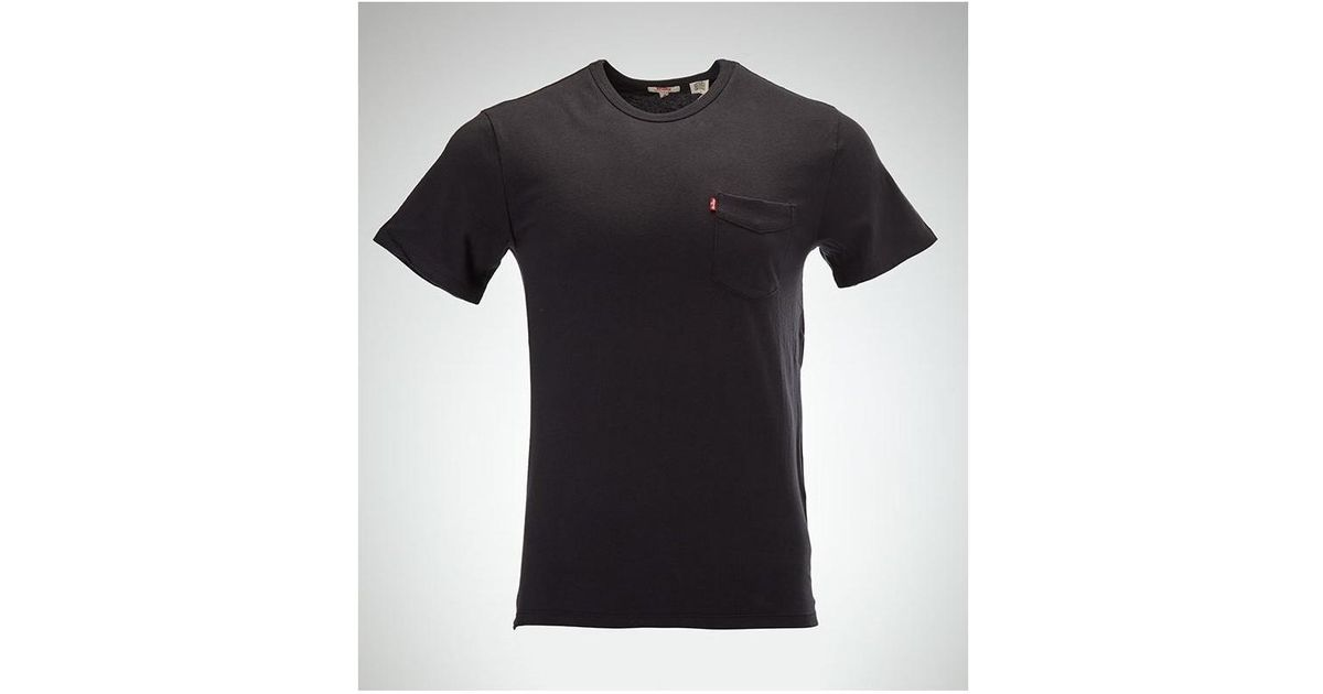 3bf10ff8b72 Levi s Levis Sun Pocket Tee Short Sleeve T-shirt In Black 15798 0001 Men s  T Shirt In Black in Black for Men - Lyst
