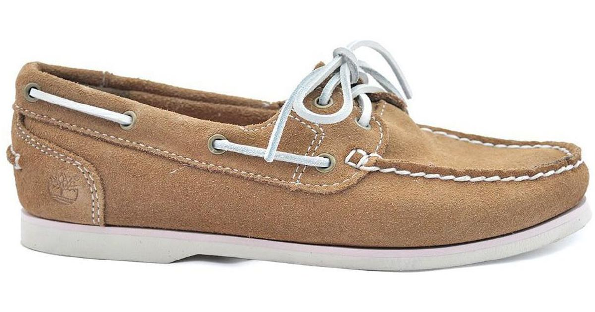 8b3abb143ce Timberland Classic Boat Women s Loafers   Casual Shoes In Beige in Natural  - Lyst