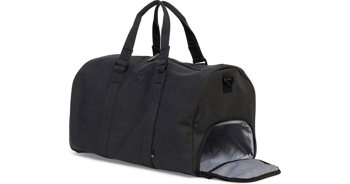 Herschel Supply Co. Novel Cotton Canvas Duffle Bag Black Men s Travel Bag  In Black in Black for Men - Lyst e87a667e7f54e