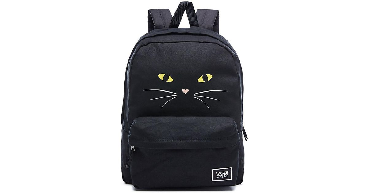 38335dd6a7 Vans Realm Classic Backpack - Black Cat Women s Backpack In Black in Black  - Lyst