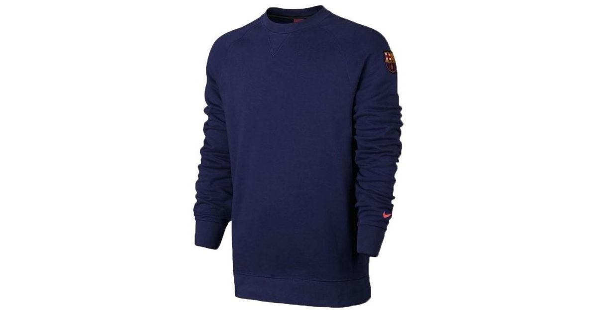 bbc03a07dc0 Nike Fc Barcelona Authentic Crew Men's Sweatshirt In Multicolour in Blue for  Men - Lyst