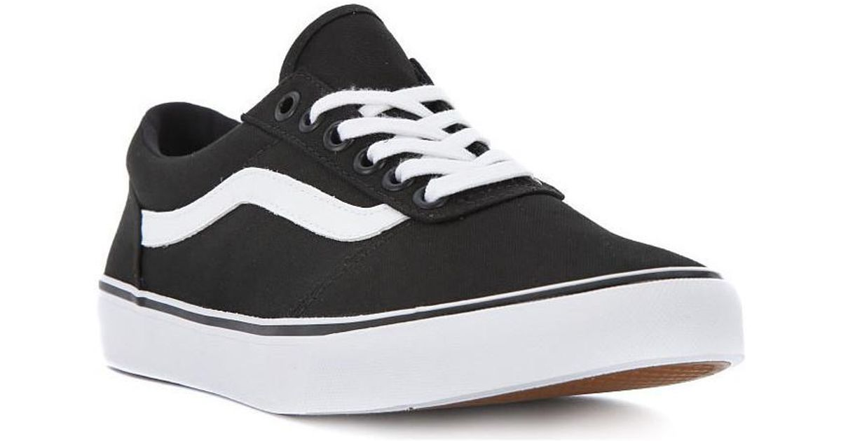 18ba68c10aac2e Vans W Maddie Canvas Women s Shoes (trainers) In Black in Black - Lyst
