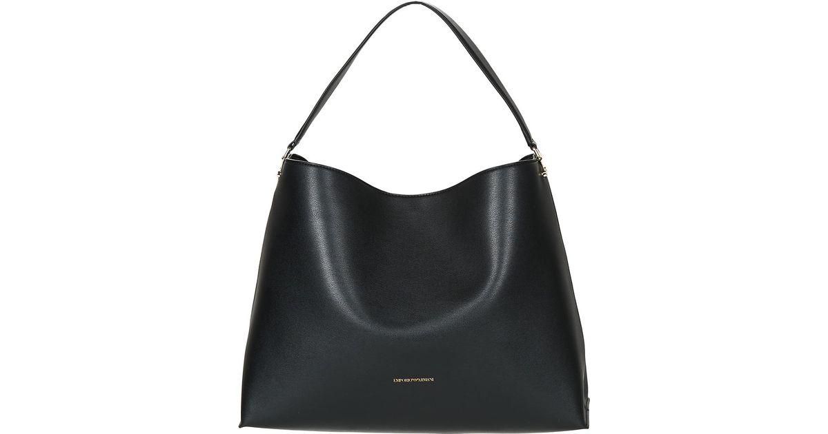 Emporio Armani Nellie Hobo Women s Shoulder Bag In Black in Black for Men -  Lyst e4d5016735910