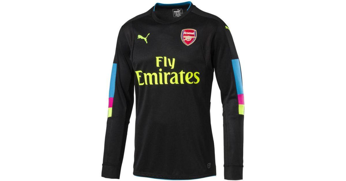 131c4e18 PUMA 2016-17 Arsenal Home Goalkeeper Shirt (cech 33) - Kids Men's In Black  in Black for Men - Lyst