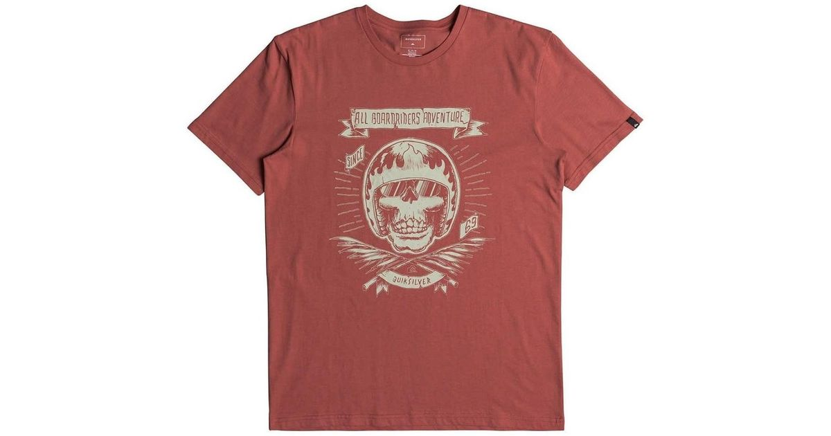 Quiksilver Shd Max - Camiseta Para Hombre Eqyzt04832 Men s T Shirt In Red  in Red for Men - Lyst 87929bd4aa