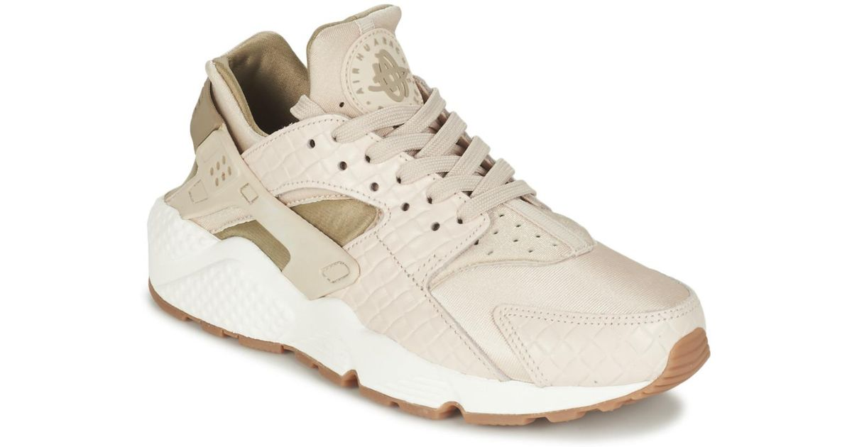 7353db6134bd7 Nike Air Huarache Run Premium W Women s Shoes (trainers) In Beige in  Natural - Lyst