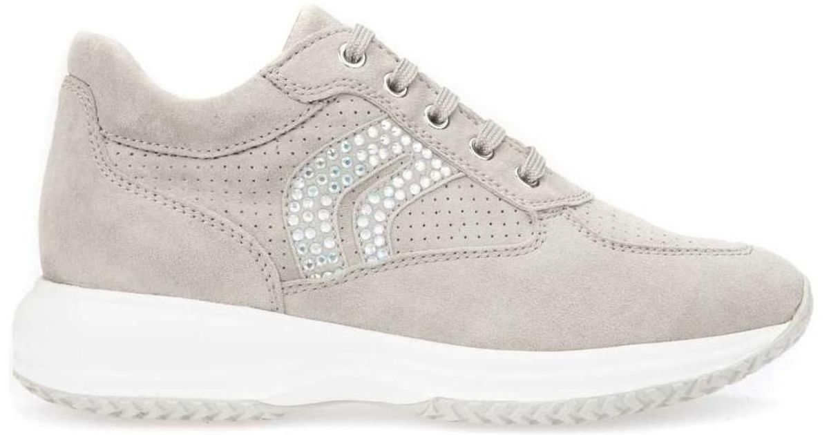 c84078469cb Geox D5462c 00021 Shoes With Laces Women Grey Women's Walking Boots In Grey  in Gray - Lyst