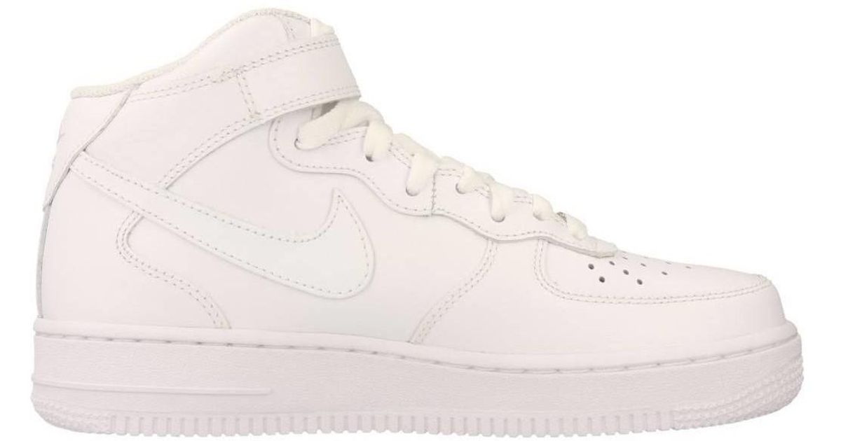 d3e5b07dc5e0 Nike Air Force 1 Women s Shoes (high-top Trainers) In White in White - Save  22% - Lyst