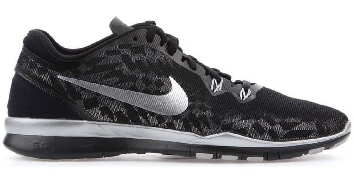 a6e486aaa32b Nike Free 5.0 Tr Fit 5 Mtlc 806277-001 Women s Shoes (trainers) In Black in  Black - Lyst