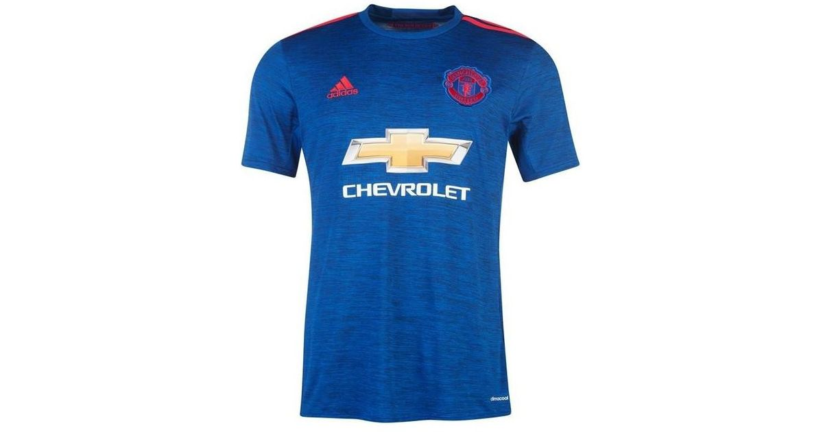 42c4579d517 adidas 2016-17 Manchester United Away Shirt (rooney 10) - Kids Men s T Shirt  In Blue in Blue for Men - Lyst
