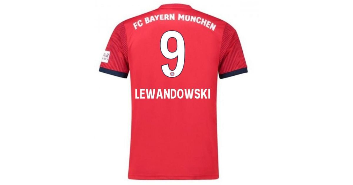 new concept 3258d 70cd4 Adidas - Red 2018-2019 Bayern Munich Home Football Shirt (lewandowski 9)  Men's T Shirt In Other for Men - Lyst