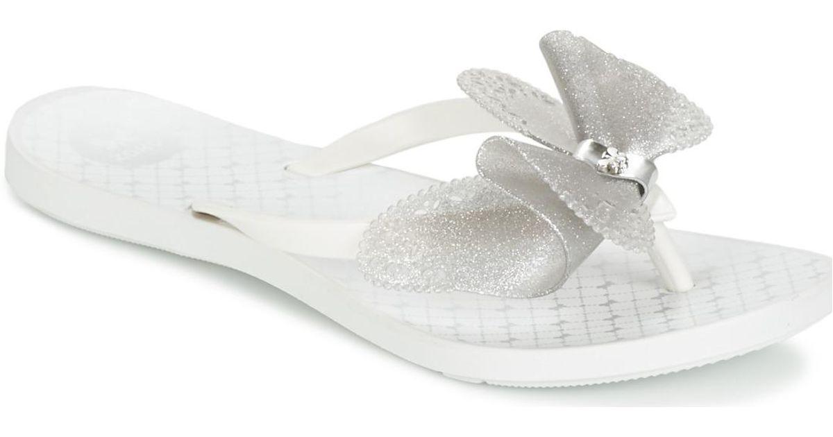 87b3c45004a607 Zaxy Fresh Butterfly Women s Flip Flops   Sandals (shoes) In White in White  - Lyst