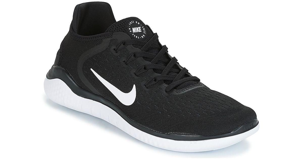 af15d0b21841 Nike Free Run 2018 Men s Running Trainers In Black in Black - Lyst