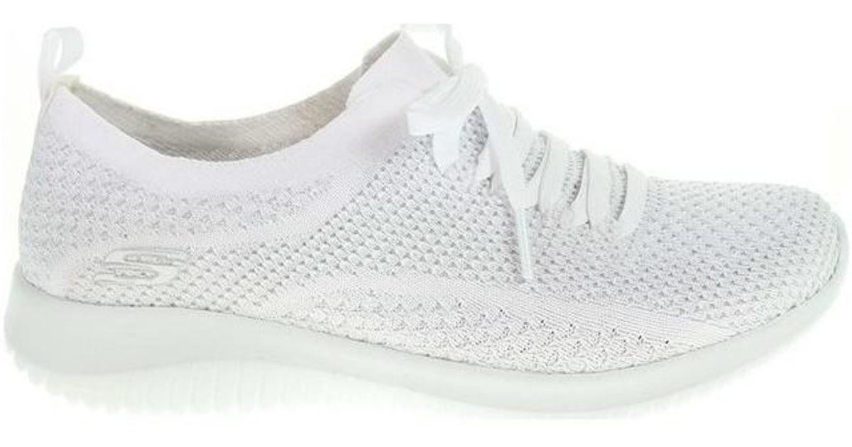 Skechers Ultra Flex Salutations Women s Shoes (trainers) In White in White  - Lyst 4b3852f199