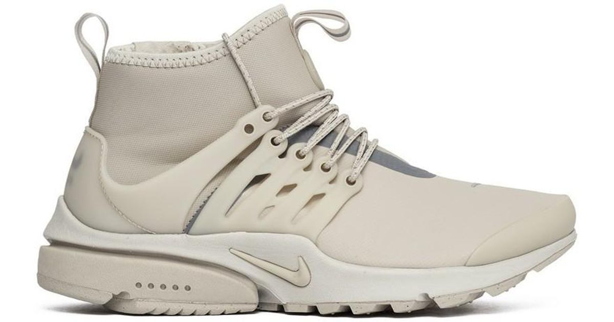 low priced 0edb3 e0c08 Nike Wmns Air Presto Mid Utility String Women s Shoes (high-top Trainers)  In Grey in Gray - Lyst