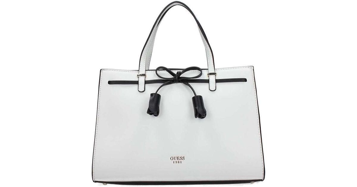 4fb70509f Guess Hwvg69 64060 Boston Bag Women's Handbags In White in White - Lyst