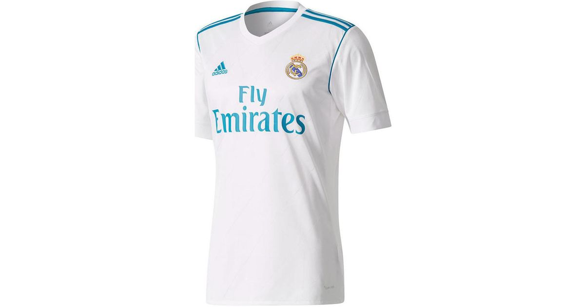 new product 7adeb 77194 Adidas - 2017-18 Real Madrid Home Shirt (zidane 5) Men's T Shirt In White  for Men - Lyst