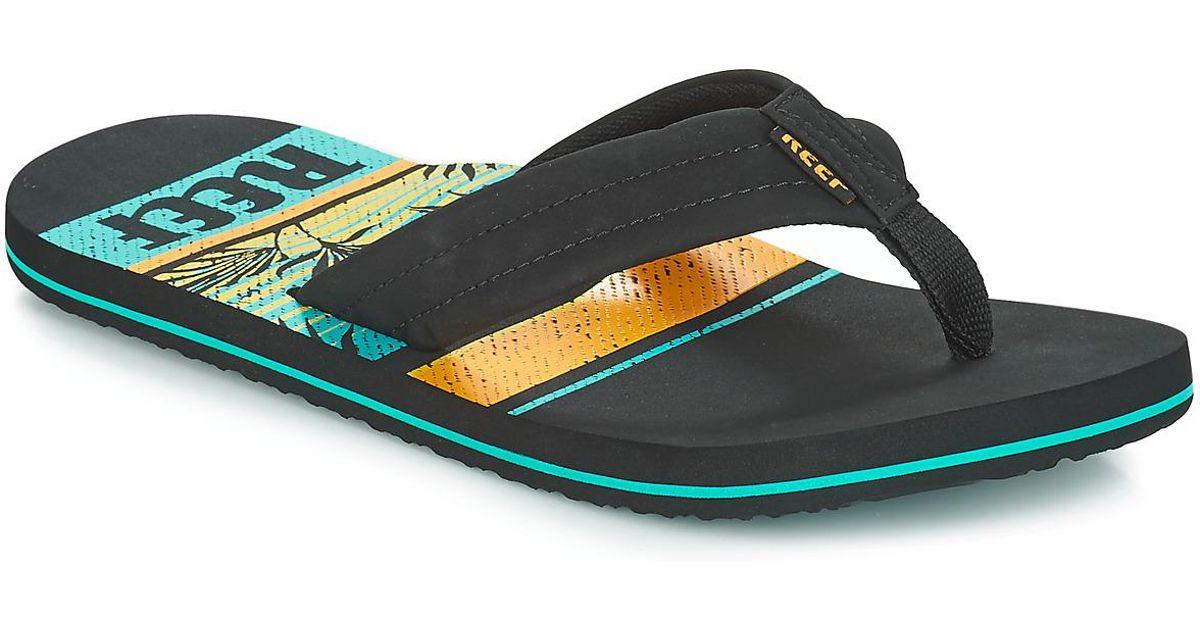 ce7dc4d7ff70 Reef Waters Men s Flip Flops   Sandals (shoes) In Black in Black for Men -  Lyst