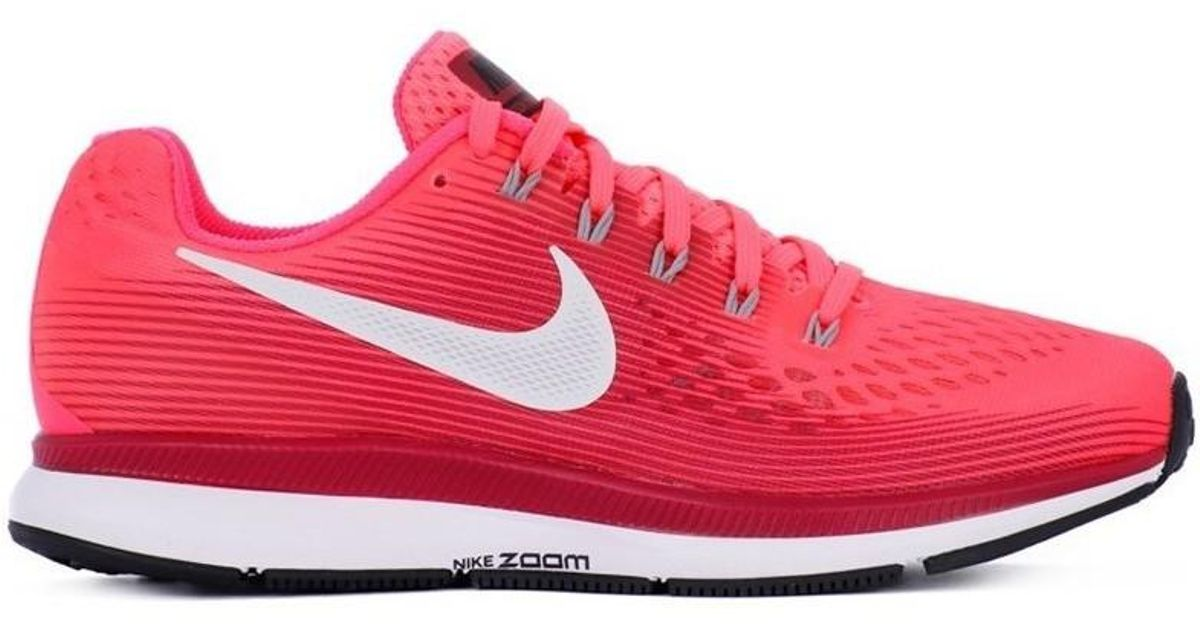 3fe2c4d000a Nike Zoom Pegasus 34 W Women s Running Trainers In Red in Red - Lyst