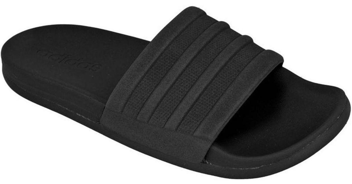 87aac183ec35 adidas Adilette Cloudfoam Plus Mono Slides W Women's Flip Flops / Sandals  (shoes) In Black in Black - Lyst