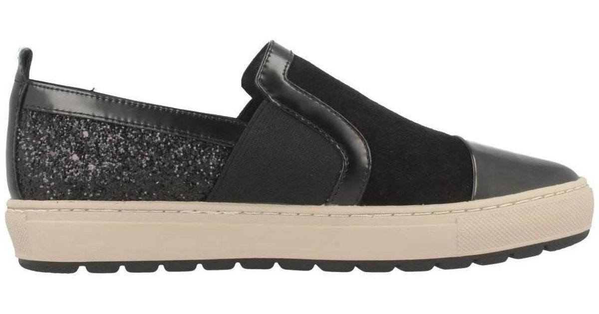 02267f991fb Geox D Breeda A Women's Shoes (trainers) In Black in Black - Lyst