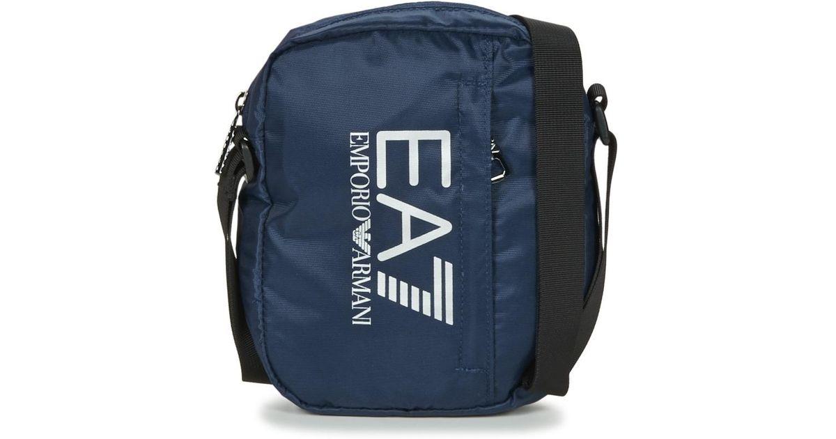 87a9863e7d4 Lyst - TRAIN PRIME U POUCH BAG SMALL C hommes Sacoche en bleu EA7 pour homme  en coloris Bleu