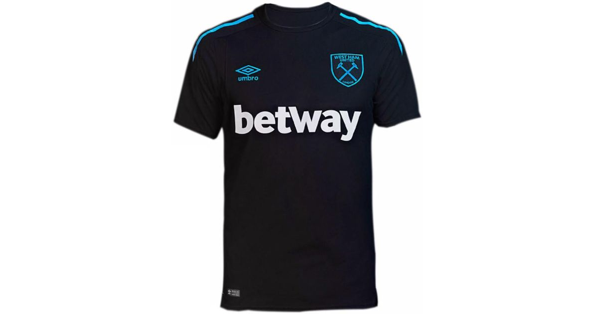 competitive price afd16 2b0ff Umbro 2017-18 West Ham Away Shirt (chicharito 17) Men's T Shirt In Black  for men