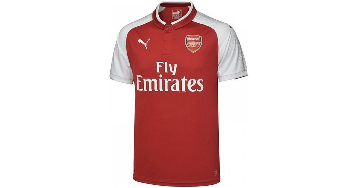 d3d630ca0 PUMA 2017-18 Arsenal Home Shirt (lacazette 9) Men s Polo Shirt In Red in  Red for Men - Lyst