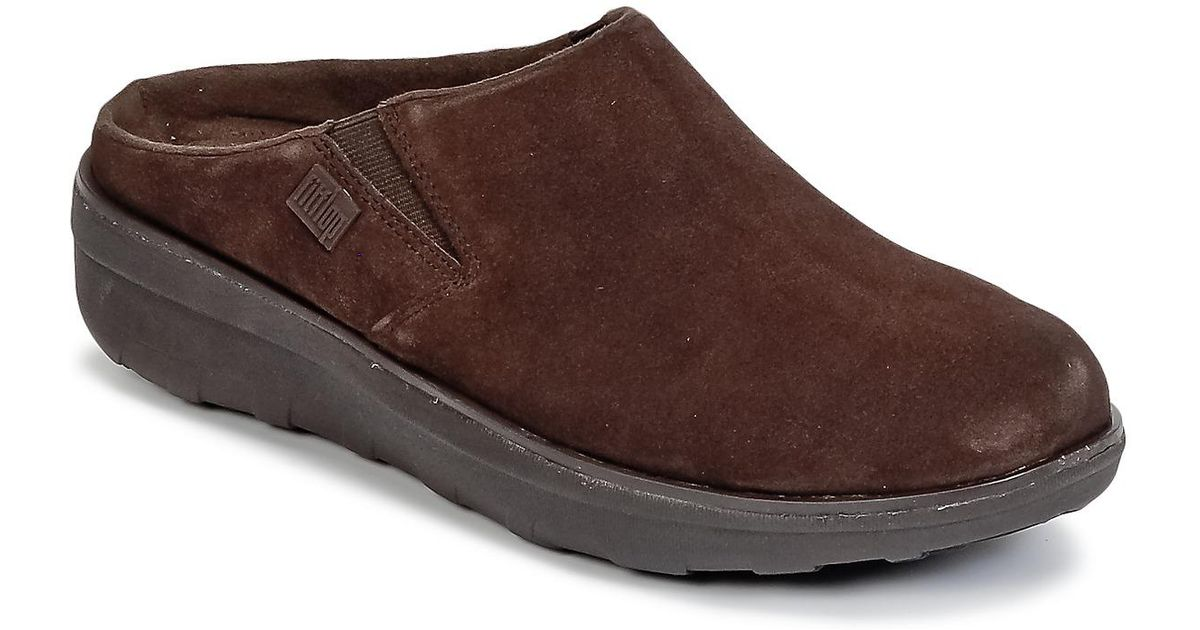 bb48275ff Fitflop Loaff Suede Clog Women s Clogs (shoes) In Brown in Brown - Lyst