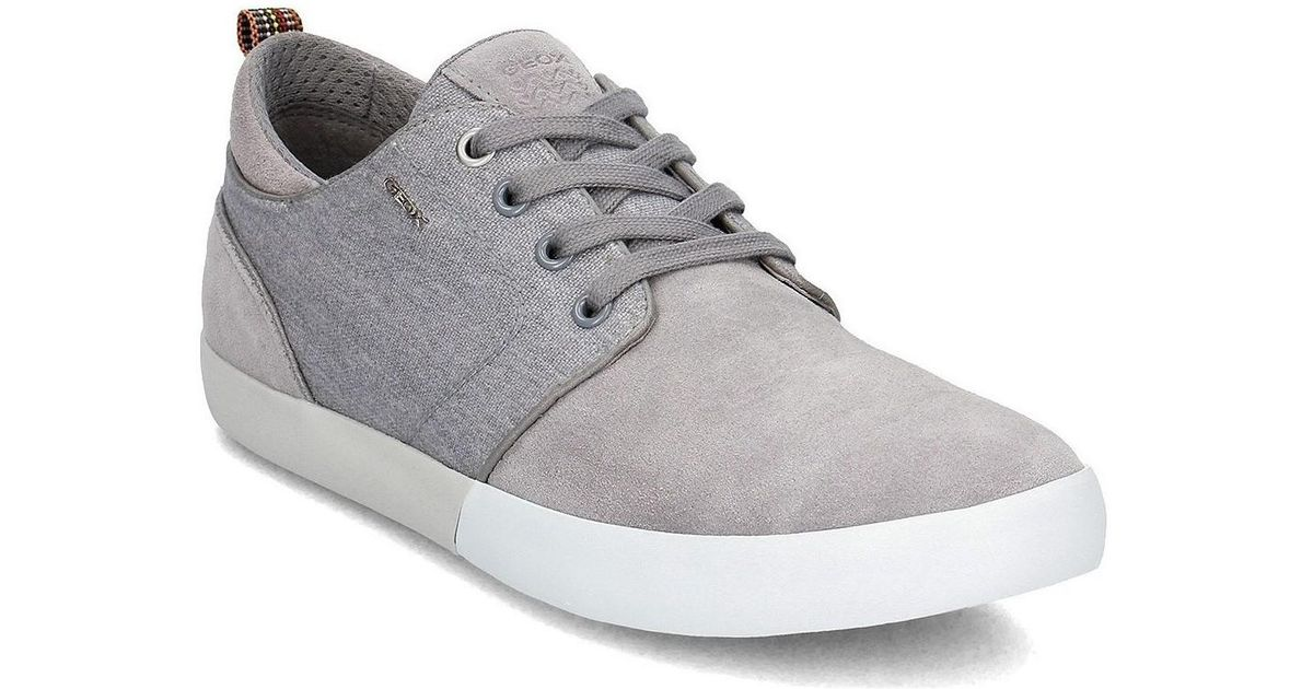 Geox Smart Men S Shoes Trainers In Grey In Gray For Men Save 48