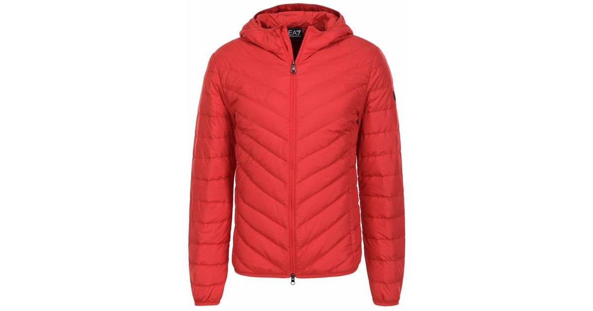 6631ab6d7 Emporio Armani 8 Z Down Jacket Red in Red for Men - Lyst