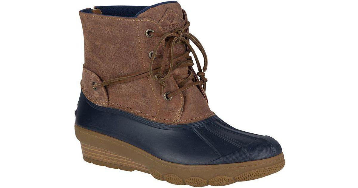 ecb229db68d8 Lyst - Sperry Top-Sider Women s Saltwater Wedge Tide Duck Boot in Blue