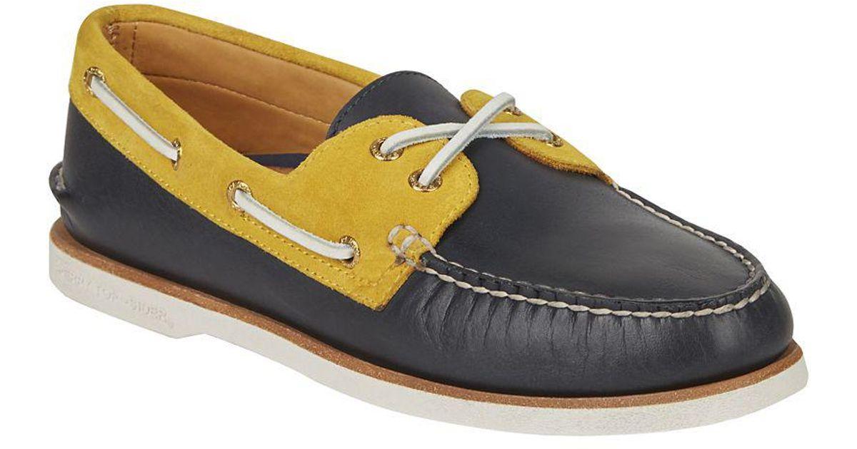 e5e83e6860 Lyst - Sperry Top-Sider Men s Gold Cup Authentic Original Chevre Boat Shoe  in Blue for Men