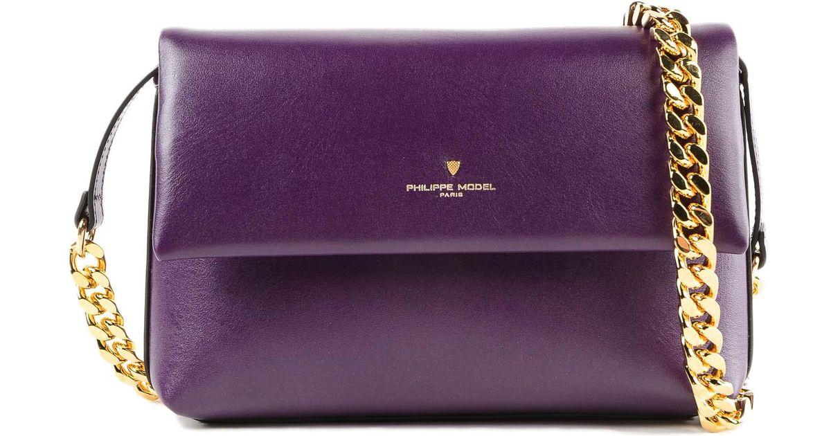 091444ac1b54 Lyst - Philippe Model Nancy Bag in Purple