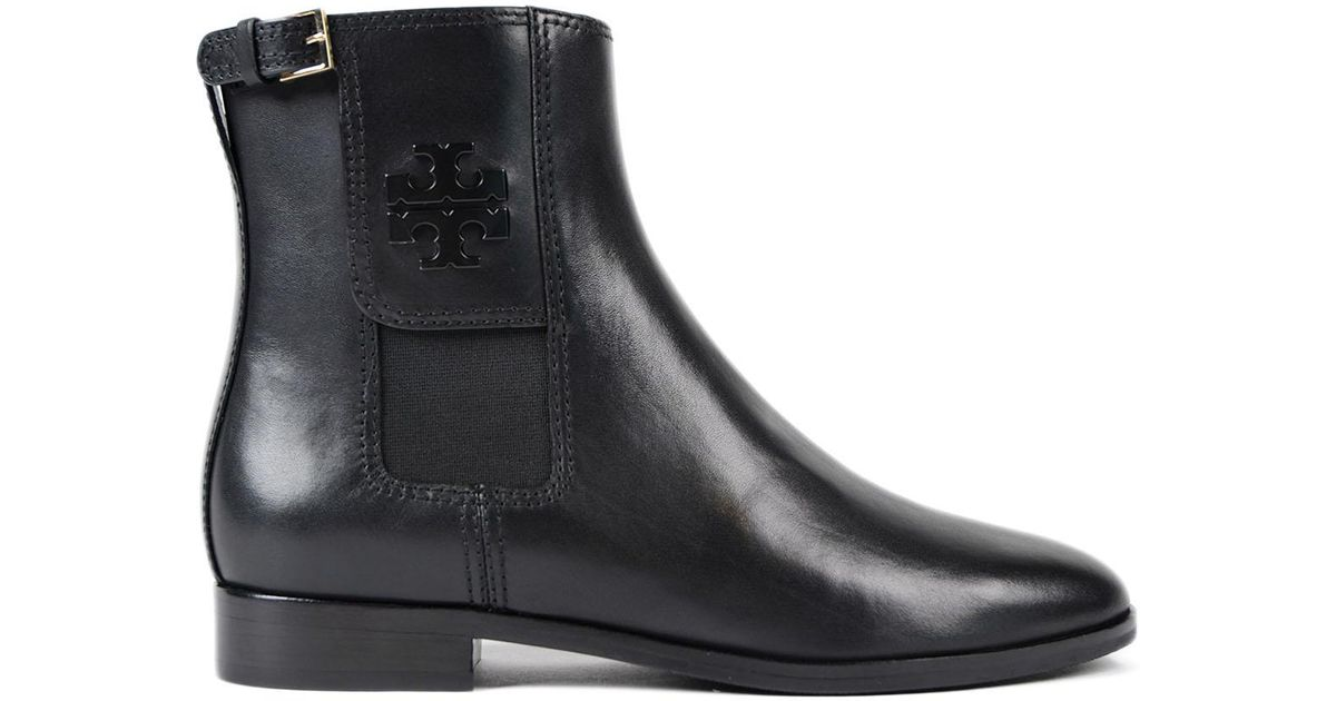 728d1e0b1540 Lyst - Tory Burch Wyatt Mid Calf Bootie in Black