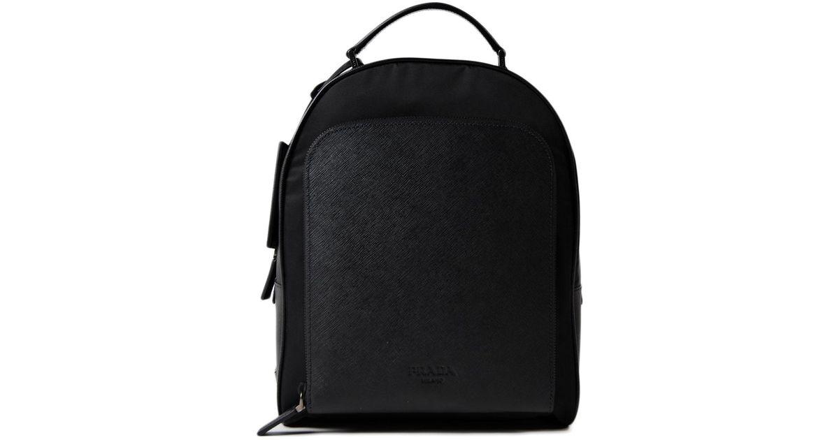 79892b4f1cbf ... closeout lyst prada tessutosaffiano backpack in black for men 9d7d9  a0edc