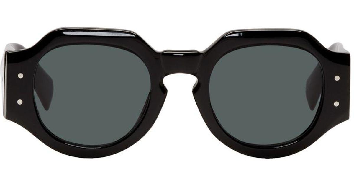 cefba6b29cd5a Dries Van Noten Black Linda Farrow Edition 174 C1 Angular Sunglasses in  Black - Lyst