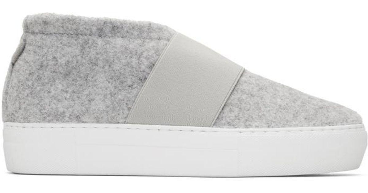 Diemme Grey Felt Cassola Mid Sneakers DpFUA6L