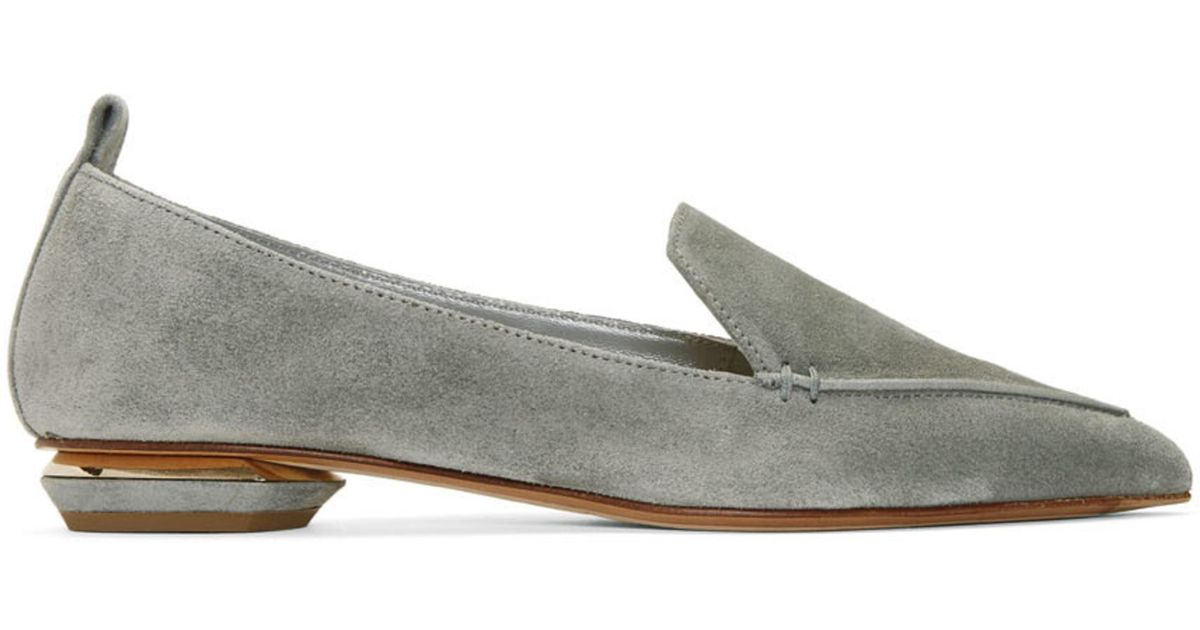 Nicholas Kirkwood Grey Metallic Beya Loafers aA4Ksauf
