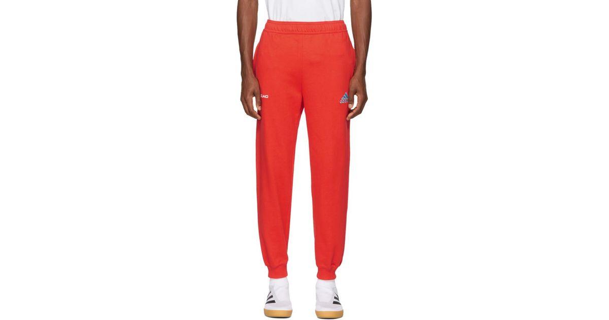 Red adidas Originals Edition Logo Lounge Pants Gosha Rubchinskiy New Release qgDNf6eIJH