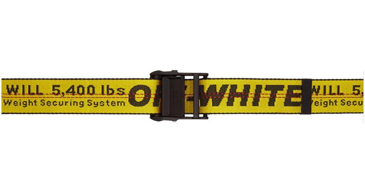 Lyst - Ceinture jaune Industrial Off-White c o Virgil Abloh en coloris Jaune  - 3.125 % de réduction 0d8435f78ef