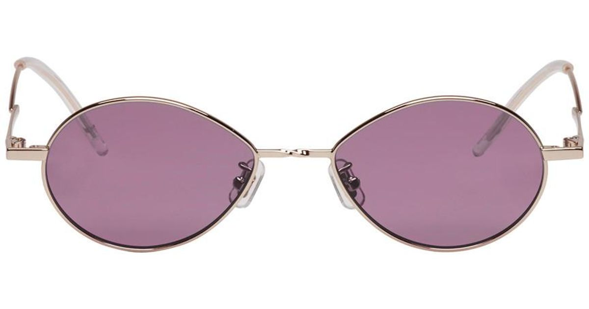 0461d67849 Lyst - Gentle Monster Silver And Purple Cobalt Sunglasses in Purple