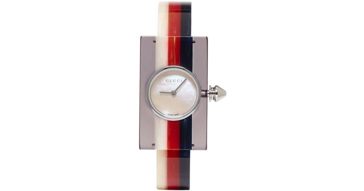99f8d6611c1 Gucci Multicolor Plexiglass Vintage Web Watch in Blue - Save 2% - Lyst