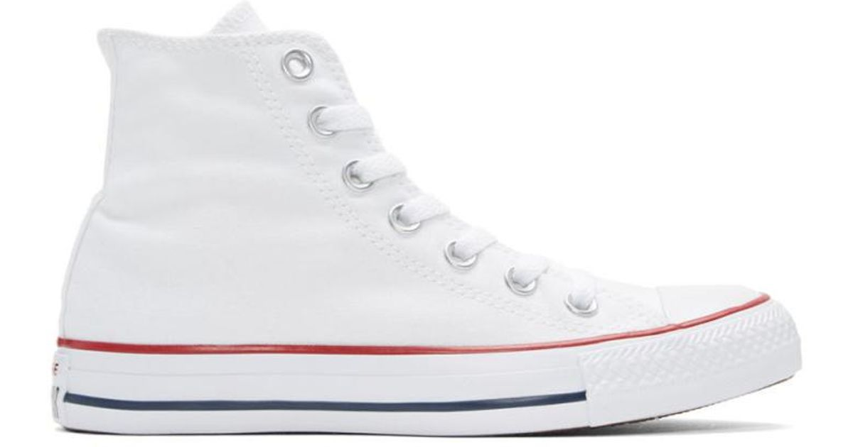 3ac761ca3a54 Converse White Classic Chuck Taylor All Star Ox High-top Sneakers in White  - Lyst