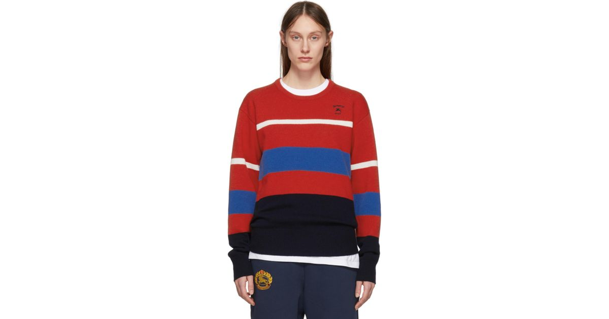 Multicolor Stripe Rugby Sweater Burberry Free Shipping Shopping Online Outlet Good Selling Fast Delivery Brand New Unisex Online Buy Cheap 2018 New NQbmjOt