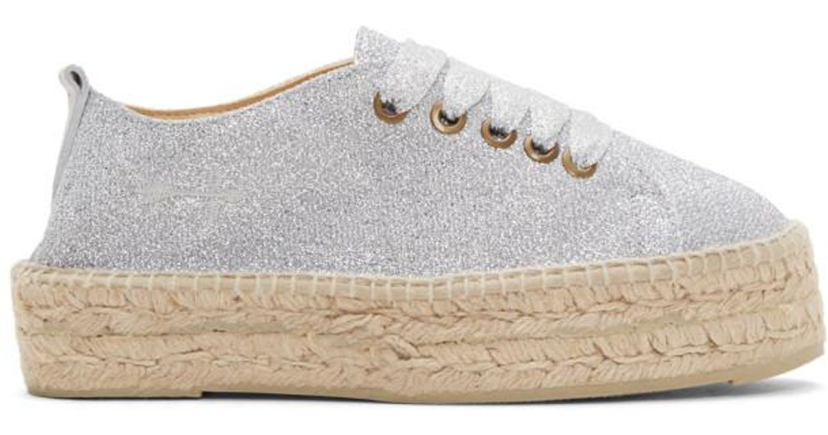 Giuseppe Zanotti Silver Lurex Hamptons Sneaker Espadrilles 66h5LXZJ8J