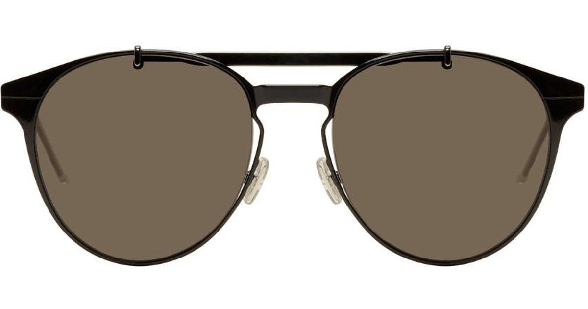171321e8027 Lyst - Dior Homme Black Dior Motion 1 Sunglasses in Black for Men