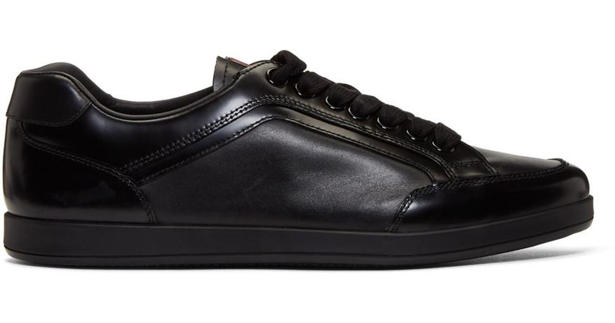 buy online 6f8cb dbb9d prada-black-Black-Slim-Sneakers.jpeg